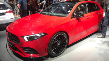 New Mercedes A-Class - reveal red front