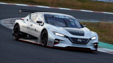 Nissan Leaf Nismo RC - front track
