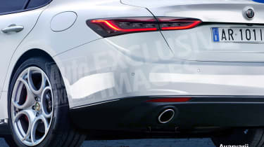 Alfa Romeo 5 Series rival exclusive image - rear detail (watermarked)