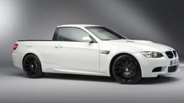 BMW's M3 pick-up truck side