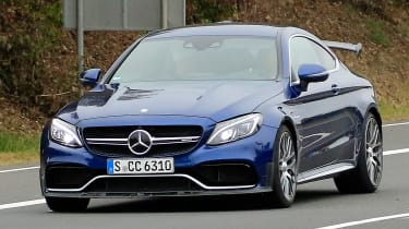 Mercedes-AMG C 63 R - spy shot road front tracking