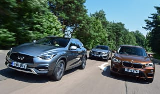 Infiniti QX30 vs Mercedes GLA vs BMW X1 - header