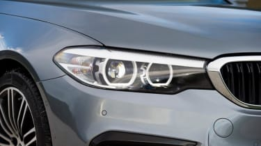 BMW 5 Series - front light detail