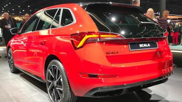 Skoda Scala Monte Carlo - rear 3/4 static Frankfurt