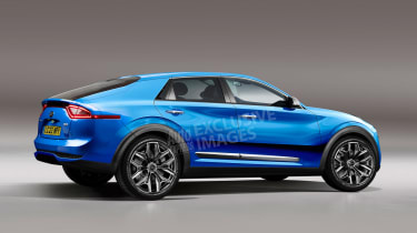 Kia coupe-SUV - rear (watermarked)