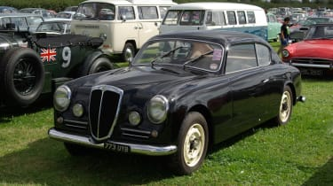 A gorgeous Lancia Aurelia in the Revival car park.
