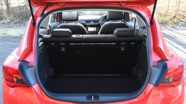 Vauxhall Corsa Red Edition - boot