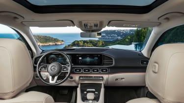 Mercedes GLS - green cabin
