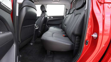 SsangYong Musso long term review - back seats