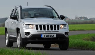 Jeep Compass front cornering