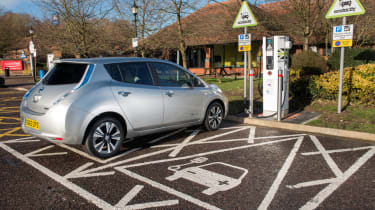 Electric car charging in the UK - Nissan Leaf