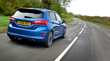 ford fiesta st long termer tracking rear