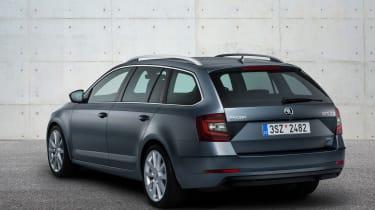 New 2017 Skoda Octavia estate facelift rear