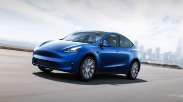 Tesla Model Y - front action
