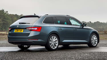 Skoda Superb Estate armoured car - rear static