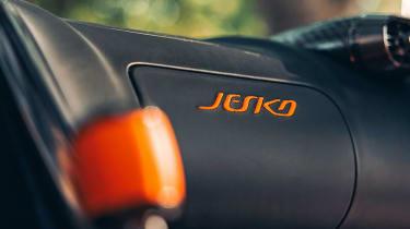 Koenigsegg Jesko 2021 production car - badge