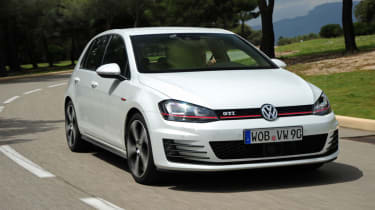 Volkswagen Golf GTI front tracking