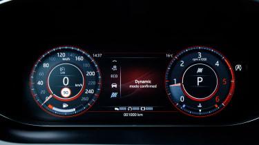 Jaguar E-Pace 240D diesel - speedo