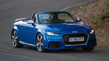 Audi TT RS Roadster - front cornering