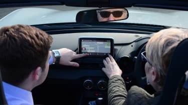 Long-term test review Mazda MX-5 - Lesley infotainment