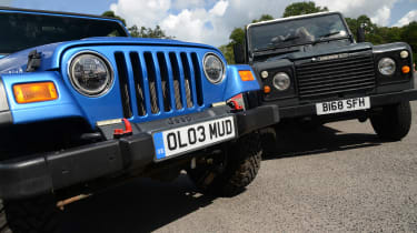 Land Rover Defender vs Jeep Wrangler - modern classics grilles