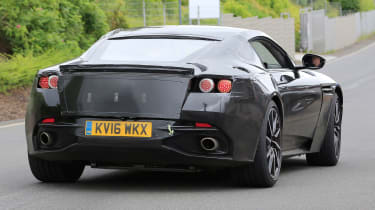 Aston Martin V8 Vantage spy shot - rear quarter 2