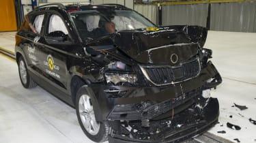 Skoda Karoq - Frontal Full Width test - after crash