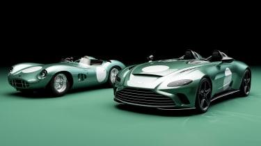 Aston Martin V12 Speedster DBR1 and Aston Martin DBR1 - front