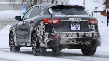 Maserati Levante GTS spy shot - rear action