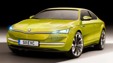 New Skoda EV sports car - front (watermarked)