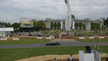 Goodwood house and Jaguar XJ13
