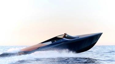 Aston Martin AM37S boat - side