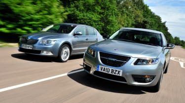 SAAB 9-5 and Skoda Superb
