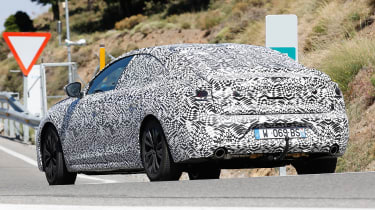 Peugeot 508 spy shot rear quarter