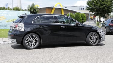 New 2022 Mercedes A-Class facelift - side