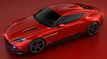 Aston Martin Vanquish Zagato - front quarter overhead