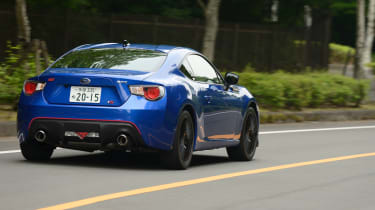 The tS offers wider, grippier tyres than the stock BRZ.