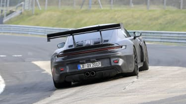 Porsche 911 GT3 RS spy 2021 - rear