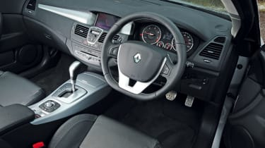 Steering provides more feedback than on the regular hatchback, while quality cabin has comfortable leather seats