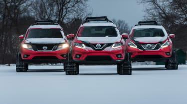 Nissan Winter Warrior concept - three models