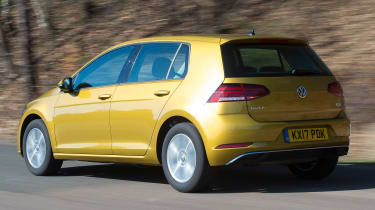 Honda Civic vs Volkswagen Golf vs Renault Megane - golf rear tracking