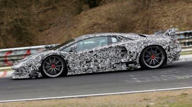 Lamborghini Aventador SVJ - spyshot full side