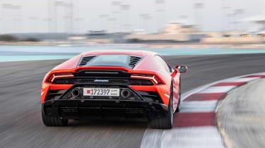 Lamborghini Huracan Evo - full rear track
