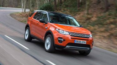 Used Land Rover Discovery Sport - front tracking