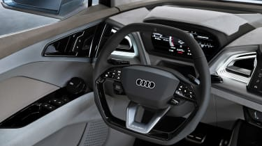 Audi Q4 e-tron concept - steering wheel