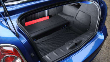 The boot space is 240-litres, which is quite good considering it's 60-litres bigger than the Mini hatchback.