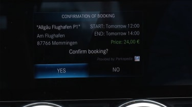 Mercedes infotainment payment system