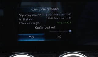 Mercedes infotainment payment system