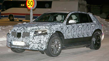 Mercedes EQ C spied front side