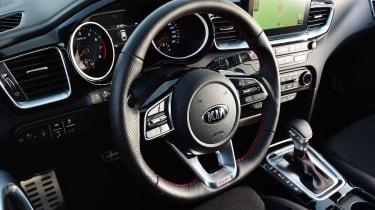 kia proceed gt prototype interior steering wheel